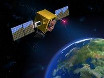 Nachrichtensatellit Stockbild