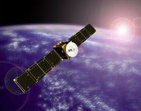 Nachrichtensatellit im Platz vektor abbildung