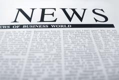 Nachrichtenschlagzeile Lizenzfreies Stockfoto