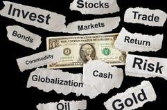 Nachrichtenschlagzeilen Lizenzfreies Stockfoto