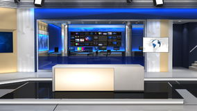 Nachrichtenstudio 101C1 (Stoß) stock abbildung