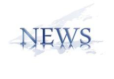 Nachrichtentext - Newsletterelement Lizenzfreies Stockfoto
