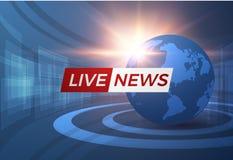 Nachrichtenvektorhintergrund EPS10 Stockfotografie