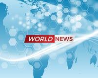 Nachrichtenvektorhintergrund EPS10 Lizenzfreies Stockfoto