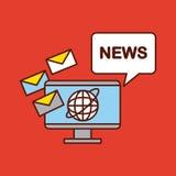Nachrichtenwelt flach Lizenzfreies Stockfoto