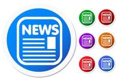 Nachrichtenzeichen Stockfoto