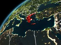 Nacht über Griechenland Lizenzfreies Stockbild