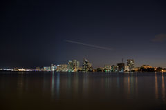 Nacht über Miami, Florida, USA Stockfoto
