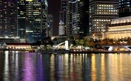 NACHT 12 VAN SINGAPORE stock fotografie