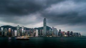 Nacht aan dag timelapse van Hong Kong stock footage