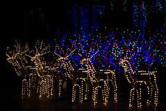 Nacht abstract onduidelijk beeld als achtergrond van blauw, krasnyys contourenherten Royalty-vrije Stock Foto