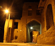 Nacht in Abyaneh Stockfotografie