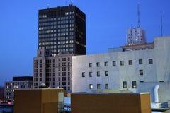 Nacht in Akron Stockbilder