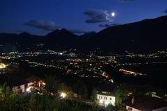 nacht in Alpen 5 royalty-vrije stock afbeeldingen