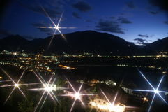 nacht in Alpen 6 stock fotografie