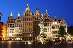 Nacht Antwerpen Royalty-vrije Stock Foto's