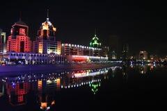 Nacht Astana Royalty-vrije Stock Foto's