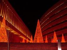 Nacht in Athen Stockfotografie