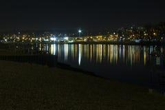 Nacht auf dem Belgrade See Lizenzfreie Stockfotos