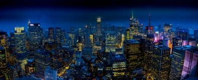 Nacht auf dem Dach Lizenzfreie Stockfotografie