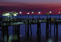 Nacht auf dem Pier Lizenzfreies Stockbild