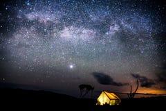 Nacht auf Kilimanjaro Stockbild