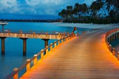 Nacht auf Maldives lizenzfreie stockfotografie