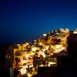 Nacht auf Santorini Stockfoto