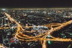 Nacht Bangkok, Thailand Royalty-vrije Stock Foto
