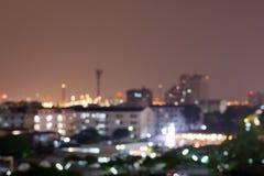 Nacht-bankok Stadt blure Lizenzfreie Stockfotografie