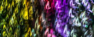 Nacht beleuchtet bokeh geformte Noten, defocused bokeh Licht, Querstation Lizenzfreies Stockbild