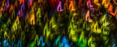 Nacht beleuchtet bokeh geformte Noten, defocused bokeh Licht, Querstation Stockbild