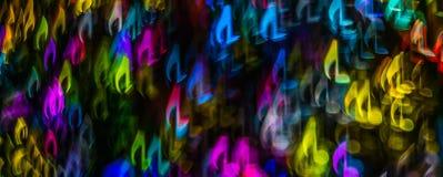 Nacht beleuchtet bokeh geformte Noten, defocused bokeh Licht, Querstation Stockfotografie