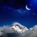 Nacht in berg Royalty-vrije Stock Foto's