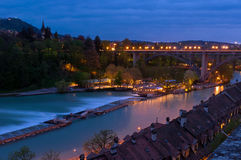Nacht in Bern Stock Fotografie