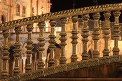 Nacht in beroemde Plaza DE Espana Royalty-vrije Stock Foto's