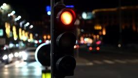 Nacht bezig verkeer stock footage