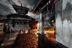 Nacht in Bhaktapur Stock Foto