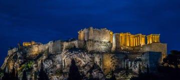 Nacht bij de Akropolis Royalty-vrije Stock Afbeelding