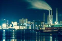 Nacht bij de haven Royalty-vrije Stock Afbeelding
