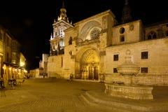 Nacht bij de Kathedraal, Gr Burgo DE Osma, royalty-vrije stock afbeelding