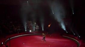 Nacht bij het Circus stock videobeelden