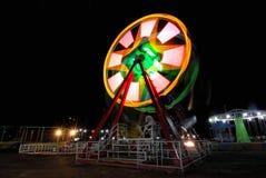 Nacht bij het Lokale Luna Park Royalty-vrije Stock Afbeeldingen