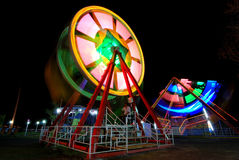 Nacht bij het Lokale Luna Park Stock Foto
