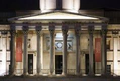 Nacht bij het National Gallery Stock Afbeelding