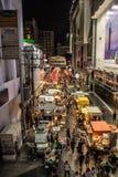 Nacht bij het vierkant van Siam Royalty-vrije Stock Afbeelding