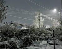 Nacht-Blizzard in einem ländlichen Gebiet in den Süd-Urals Lizenzfreie Stockbilder