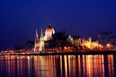 Nacht Boedapest 1 Royalty-vrije Stock Afbeelding
