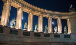 Nacht Boedapest Stock Foto's