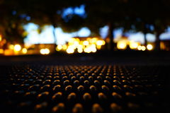 Nacht bokeh effect op het strand Royalty-vrije Stock Foto's
